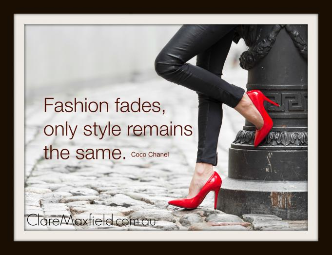 Fashion Fades only style is eternal coco chanel