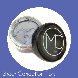 coontainer of microfine cosmetic concealer
