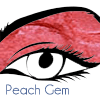 Peach gem eye lip shadow