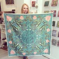 'Sea Turtle' Cotton scarf 105cm x 105cm £55