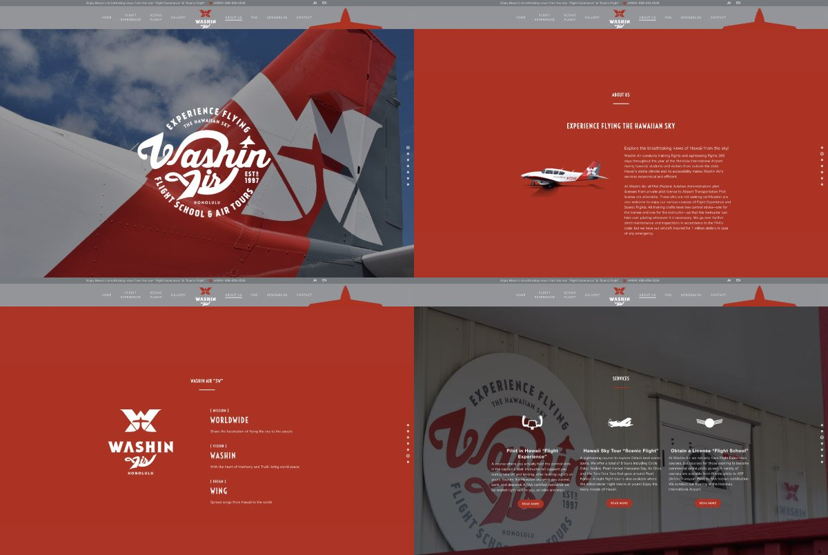 Washin Air Website