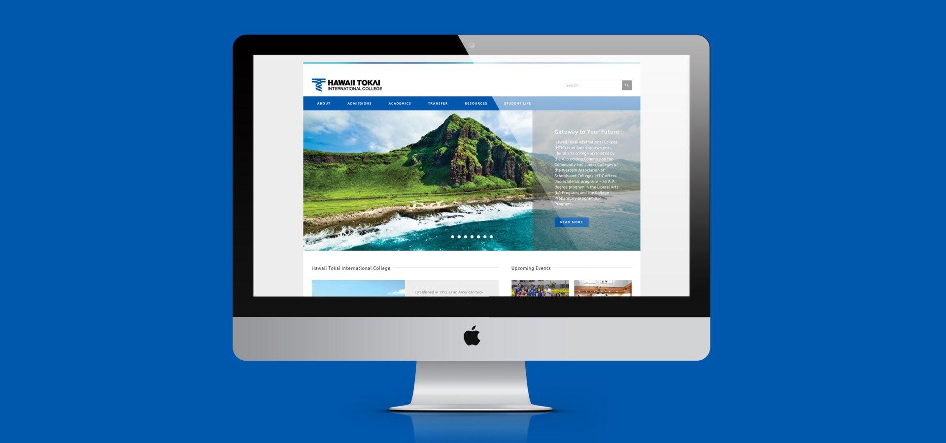 Tokai website on desktop