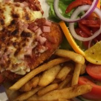 Chicken Parmigiana at the Cooee Hotel