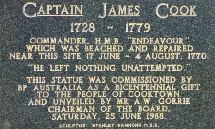 The statue plaque