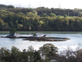 The lonely house: on an island in the middle of the Menai