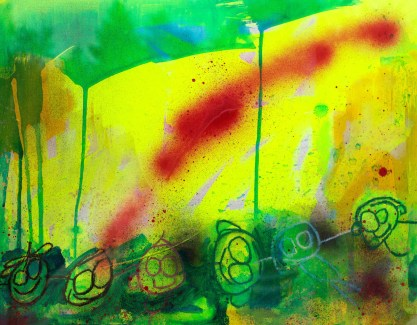 Connection 47cm x 36.5cm Oil on paper