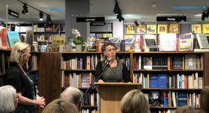 Nat introduces me at my last book launch