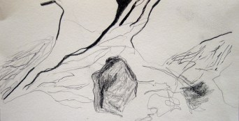 Place II. 2014. Pencil on paper.