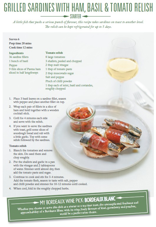 Sardines and Blanc Sec