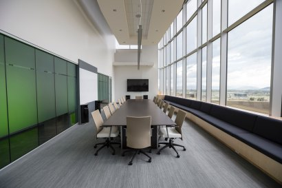 photo of an empty boardroom