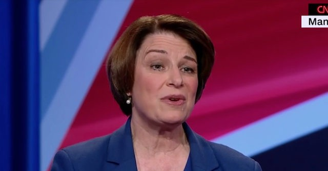 Amy Klobuchar Tells CNN Audience 'That's When You're Supposed to Cheer!'