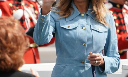 Fashion Notes: Melania Trump Is a Blue Jean Baby at Easter Egg Roll in Michael Kors