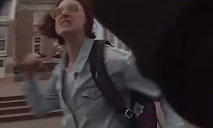 Female activist caught on video going berserk, getting violent during peaceful, pro-life demonstration. The pro-lifer responds in the most loving way.