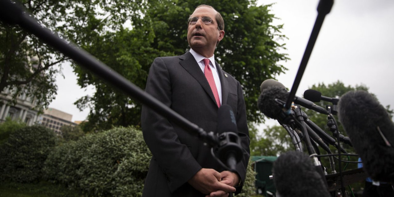HHS Secretary Alex Azar announces new regulations requiring drugmakers to disclose prices in TV ads