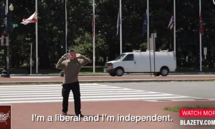 VIDEO: 'Open-minded liberal' interrupts gun expert with profanity laden rant—but keeps his distance