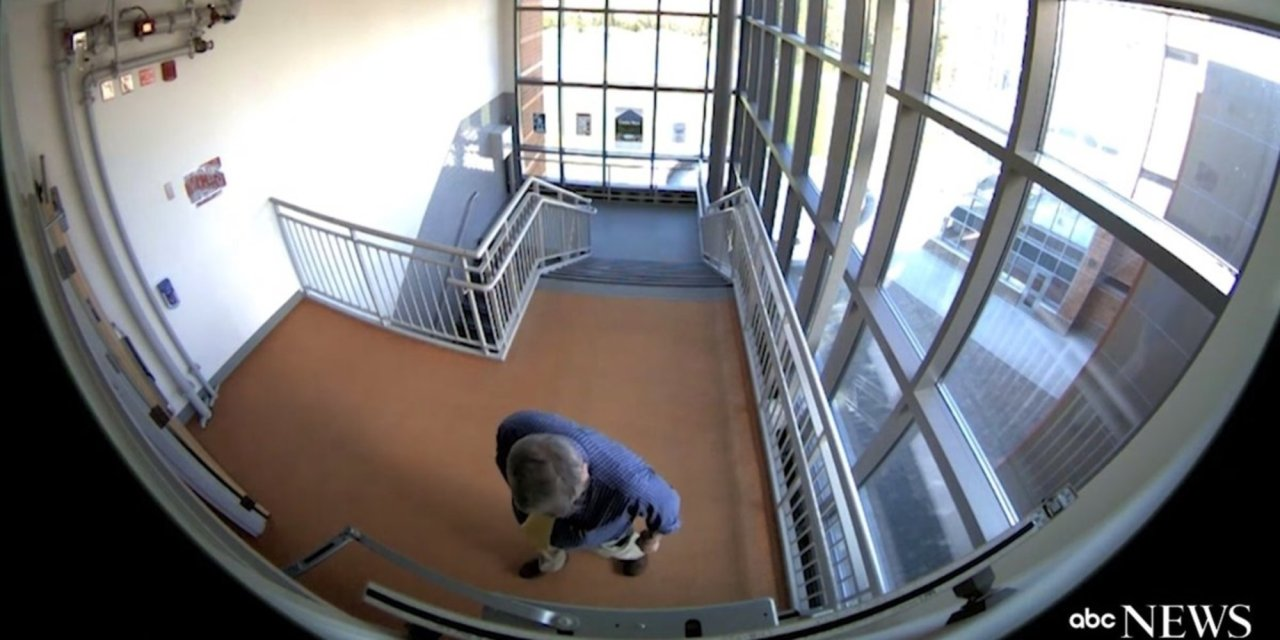 A teacher in Massachusetts tried to plant live ammo to scare a school into increasing security. But he forgot about the security cameras.