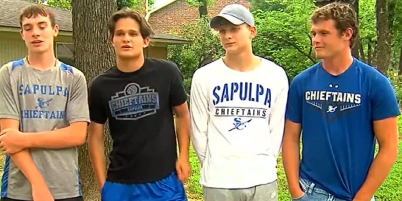 Four Oklahoma boys rescue 90-year-old neighbor trapped in burning home