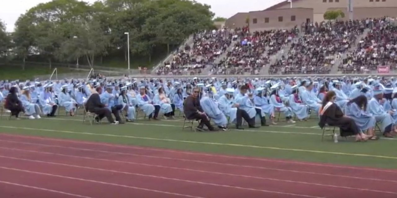 Valedictorian's graduation speech goes viral after she issues scathing remarks about 'alcoholic' teacher and absentee counselor