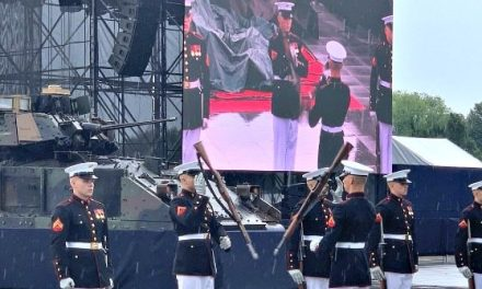 'Salute to America' Had Seven Flyovers, Army Bands, Marine Drill Team