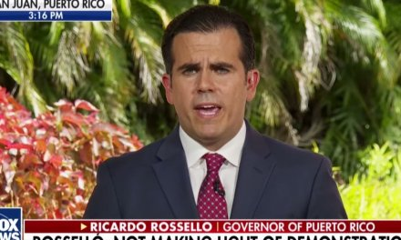 Puerto Rico's governor stumbles through disastrous Fox News interview as hundreds of thousands protest