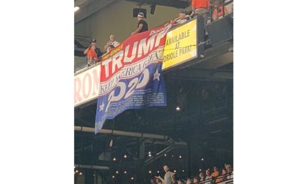 Police and stadium officials eject 4 fans from Camden Yards in Baltimore for waving pro-Trump banner inside stadium