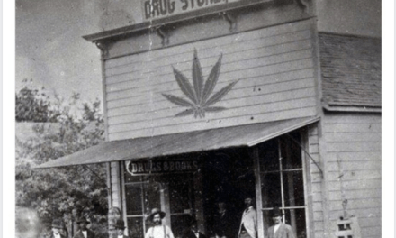 FACT CHECK: Does This Image Show A 19th Century Drug Store With A Marijuana Leaf Sign?