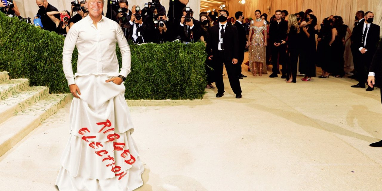 Trump Wows Met Gala Crowd In 'Rigged Election' Dress