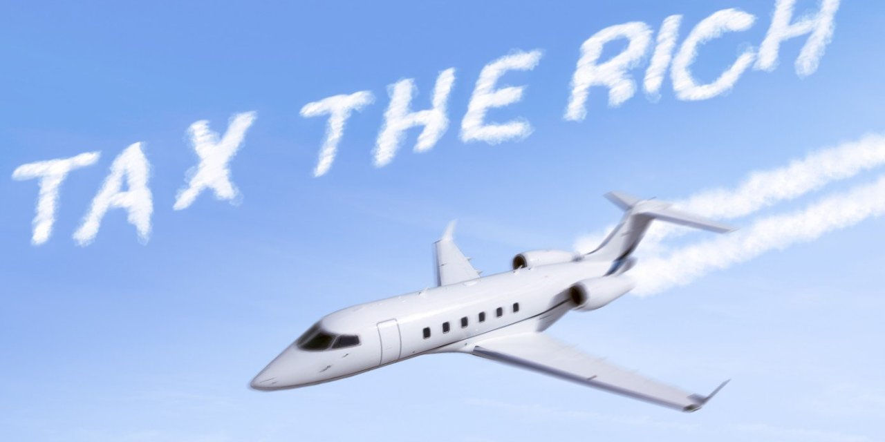 Powerful: AOC Writes 'Tax The Rich' In The Sky With Her Private Jet