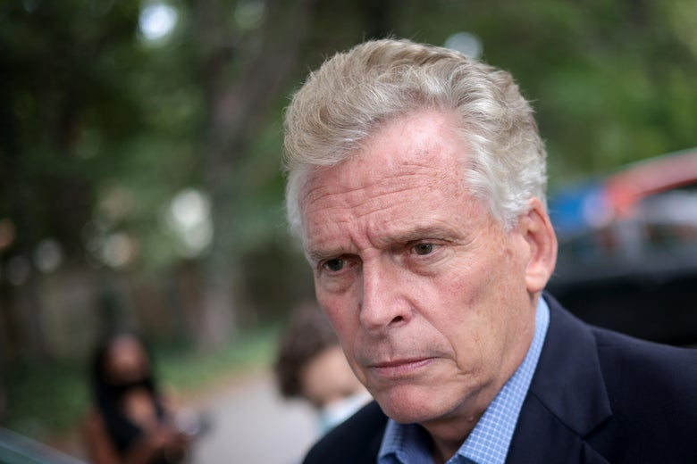 Terry McAuliffe squirms