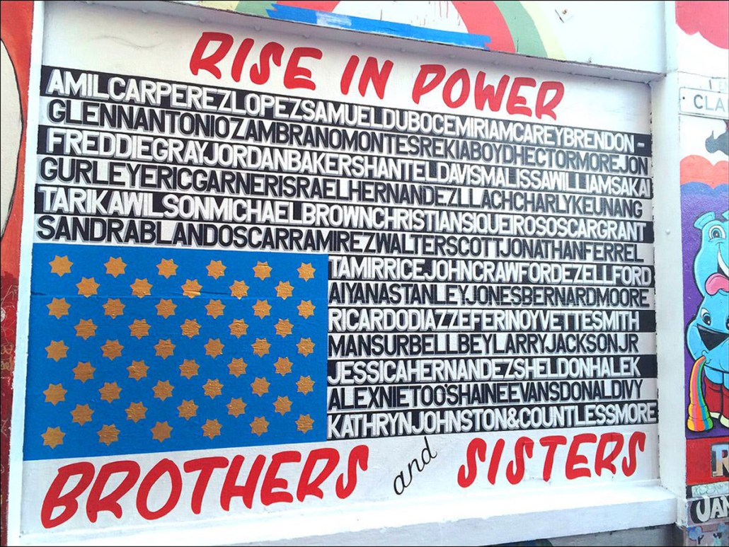 "José V. Guerra Awe, ""Rise In Power,"" Clarion Alley, 2016"