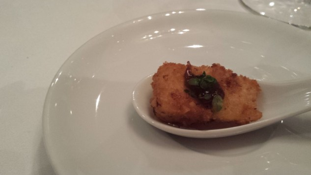 Fried brie, the starter