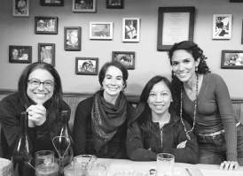 (left to right) Elise, me, Raquel, Yely after our delicious dinner!