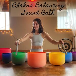 Chakra Balancing Sound Bath with Clarissa Mae Yoga