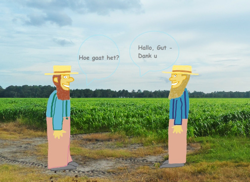 Amish farmers discussing
