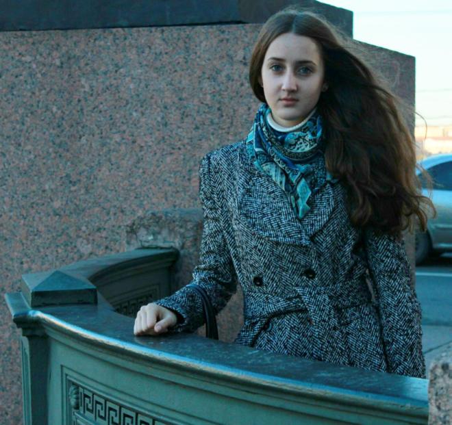 Girl near Saint Petersburg Glavny
