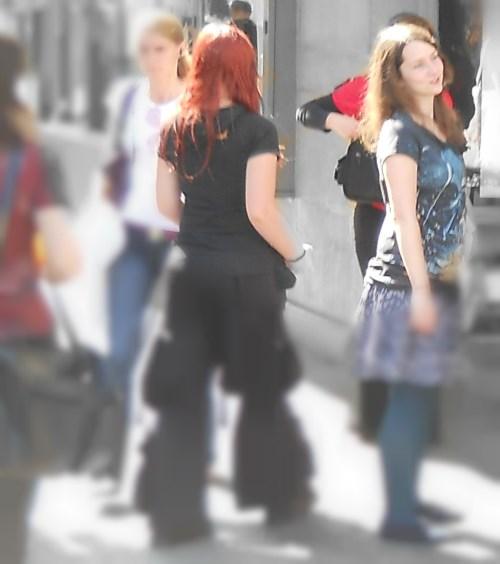 Russian girls and tourist