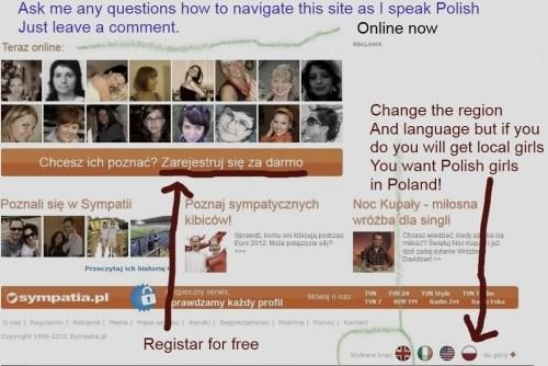 Polish dating website English