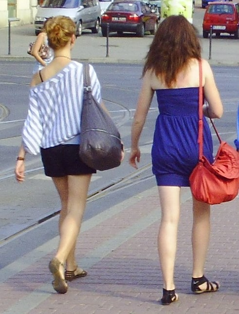 Polish girls walking