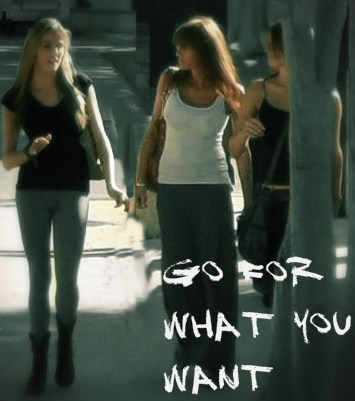 beautiful girls walking street