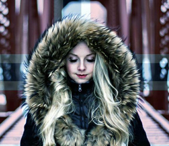 cold girl in Oslo