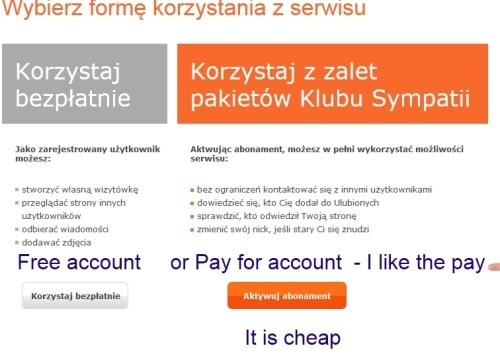 free or pay polish dating account