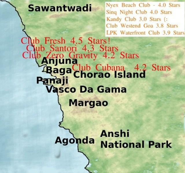 Clubs North of Panaji