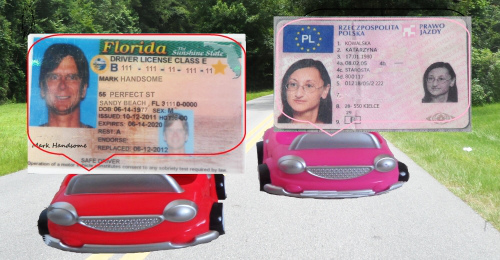 driver's license Europe