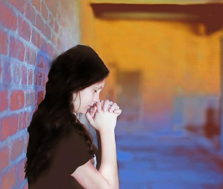 prayerful girl
