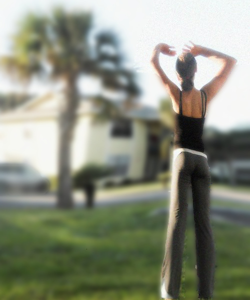 yoga girl long legs