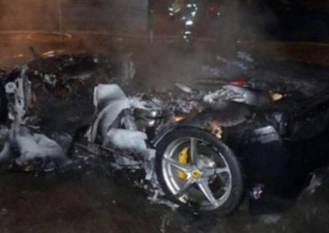 Spoiled son torches Ferrari so rich dad will buy him a new one