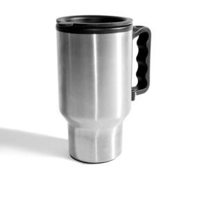 Steel travel mug