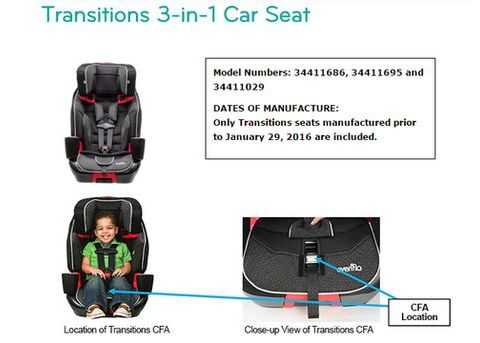 Evenflo recalls more than 56,000 child seats for harness issue
