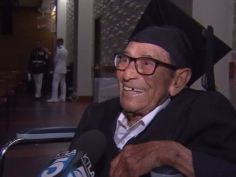 96-year-old WWII veteran earns college degree 65 years later