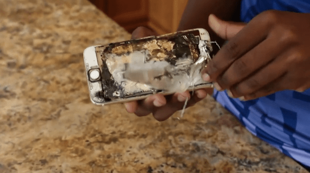 A man's pants caught on fire after his iPhone exploded in his pocket